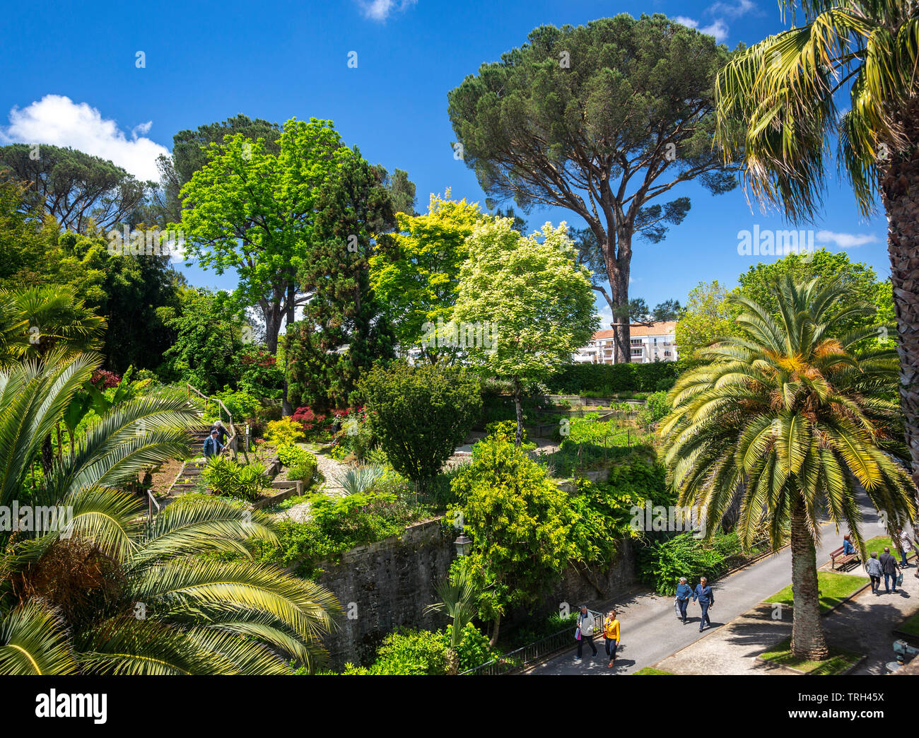 The Bayonne botanical garden (Aquitaine - France). Nestled high on the Lachepaillet rampart, it has been laid out according to a Japanese  model. - Stock Image