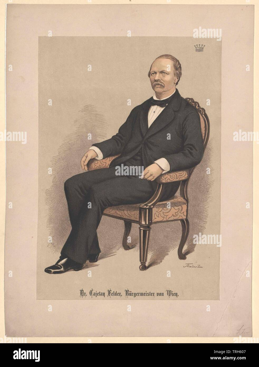 Felder, Cajetan Baron of (1814-1894), assemblymen, deputy, assemblyman, office holder, officeholder, office holders, officeholders, politics, policy, politician, politicians, people, full-length, full length, man, men, male, manly, 19th century, Additional-Rights-Clearance-Info-Not-Available - Stock Image