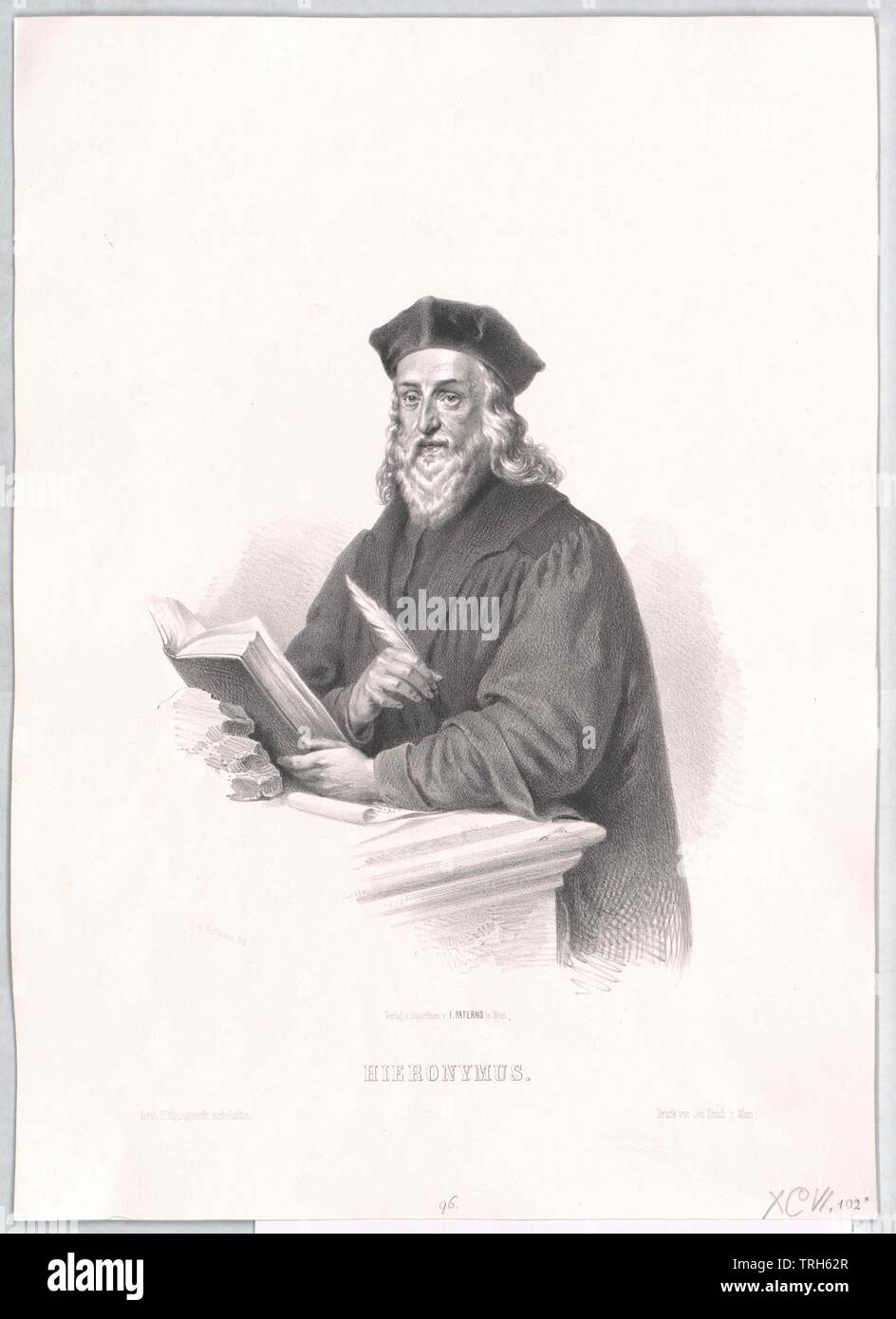 Jerome of Prague,ecclesiastic, chaplain, chaplains, false teachers, reformer, theology, people, half-length, half length, man, men, male, manly, Prague, Praha, Additional-Rights-Clearance-Info-Not-Available - Stock Image
