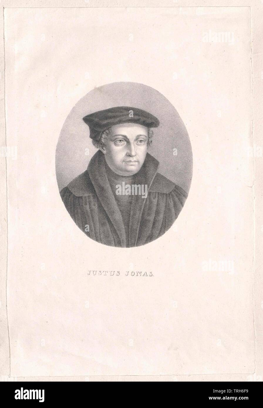 Jonah, Justus,ecclesiastic, chaplain, chaplains, false teachers, reformer, theology, people, full-length, full length, man, men, male, manly, Additional-Rights-Clearance-Info-Not-Available - Stock Image