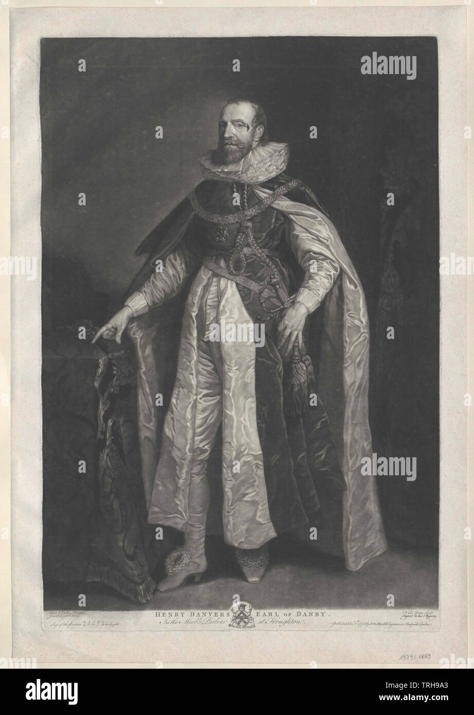 Danvers, Henry earl of Danby, Additional-Rights-Clearance-Info-Not-Available - Stock Image