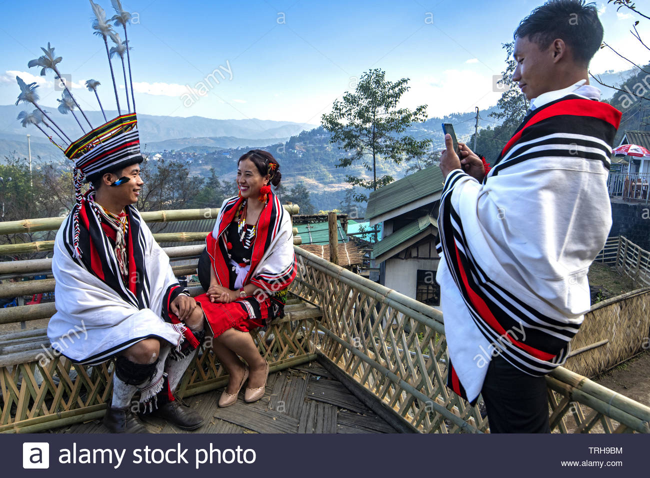India, Nagaland, Kohima, annual meeting of all the Naga tribes during the Hornbill Festival Stock Photo
