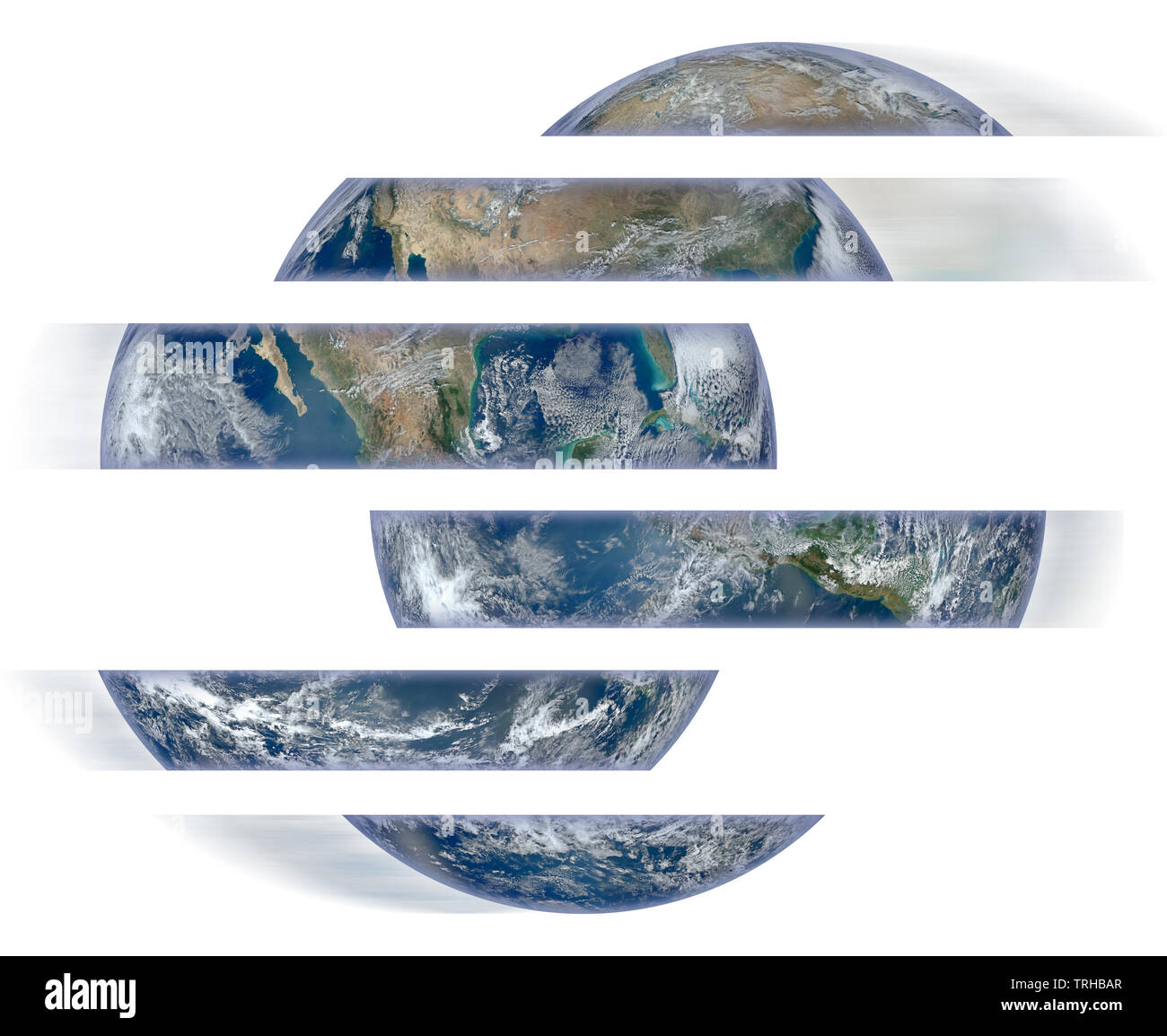 Rebuild the world - concept image with image from Nasa Stock Photo