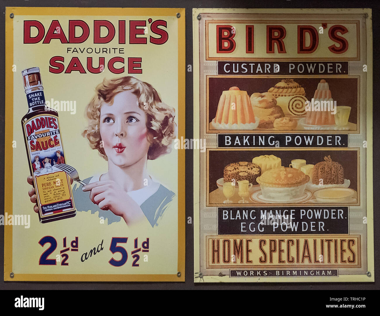 1940's advertisements Stock Photo