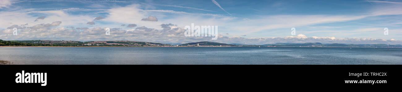 Panoramic view of Swansea Bay, Wales, UK Stock Photo