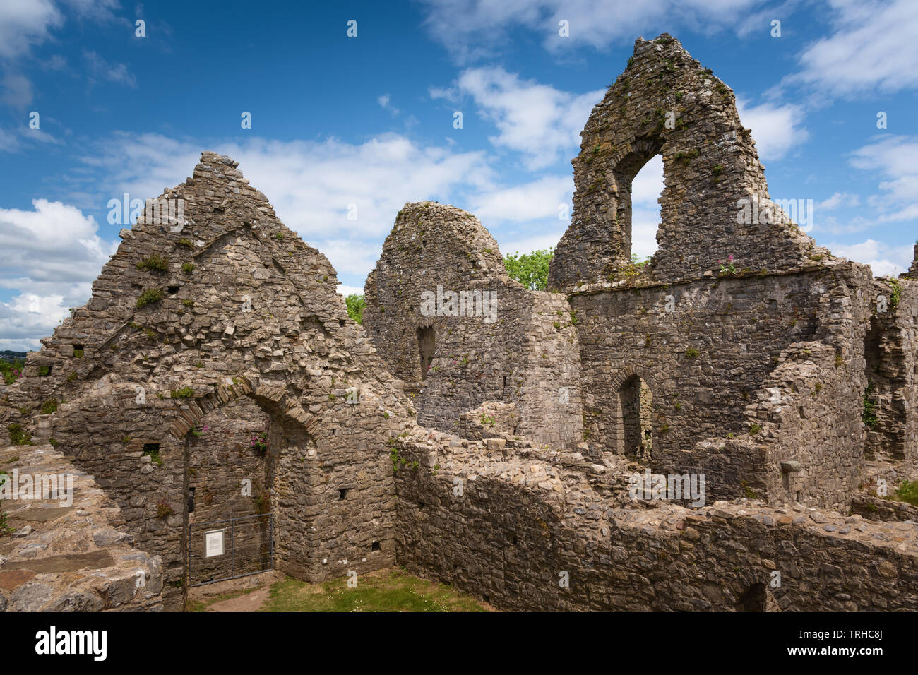 Oystermouth Castle, Wales, UK Stock Photo