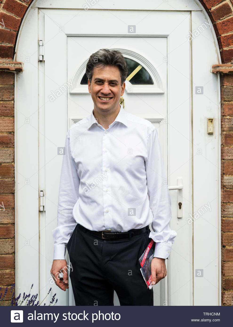 Peterborough, Cambridgeshire, UK, June 6th, 2019. The Labour Party sends out the big guns in their fight to win the Peterborough by-election. Former Labour Party leader, Ed Miliband, on the campaign trail for the Peterborough by-election. Credit: Michael David Murphy / Alamy Live News - Stock Image