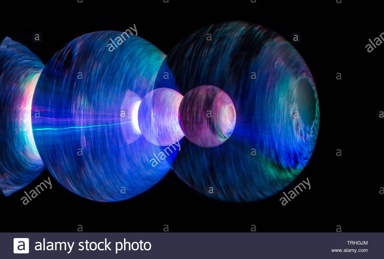 Spaceship In Hyper Warp Drive - Stock Image