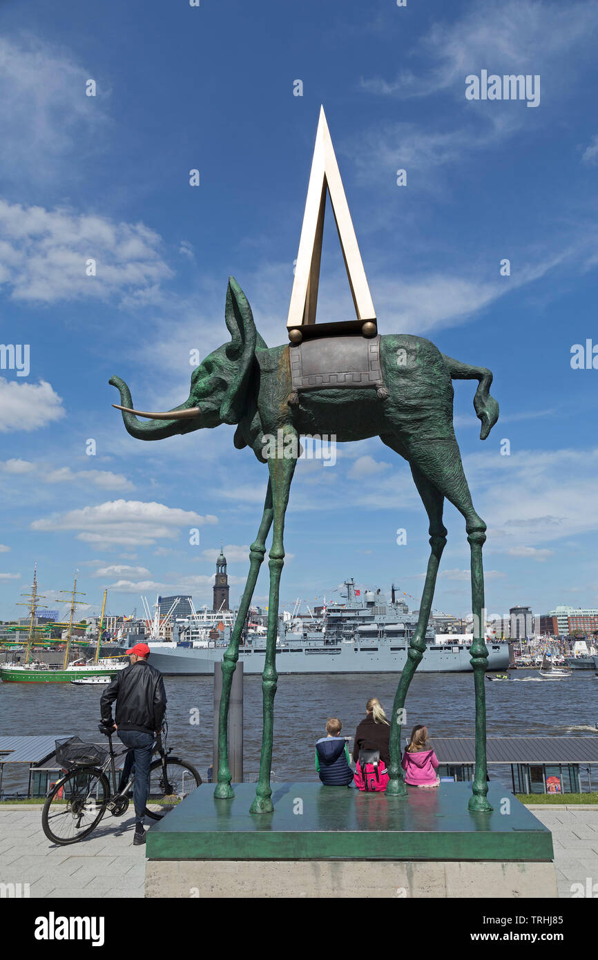 artwork on the grounds of Theater im Hafen, 830. Harbour Birthday, Harbour, Hamburg, Germany - Stock Image