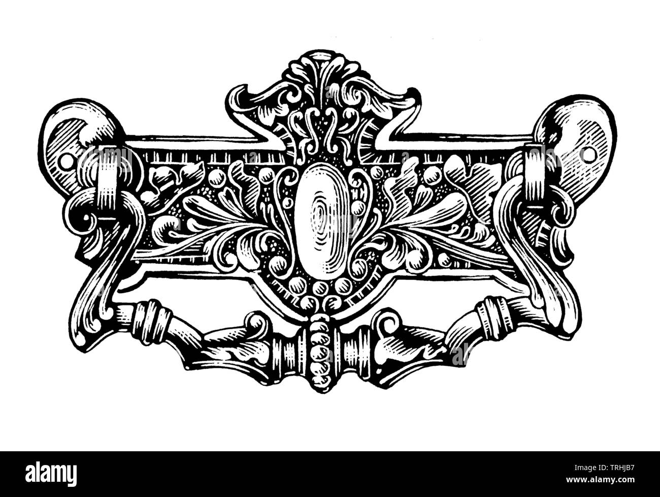 Ornate handle - Stock Image