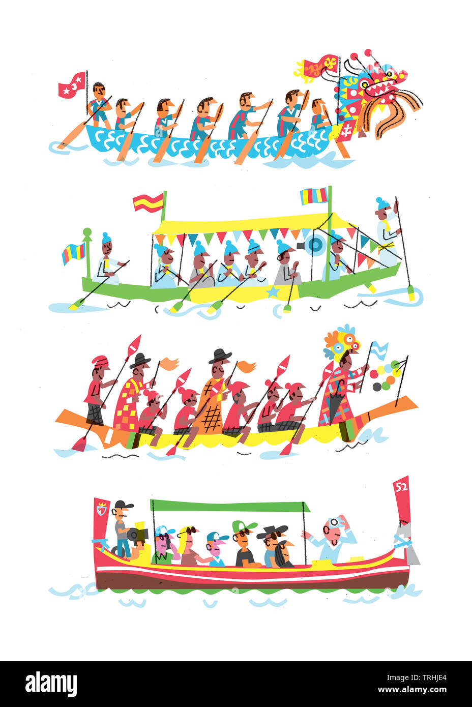 Boats from various parts of world - Stock Image