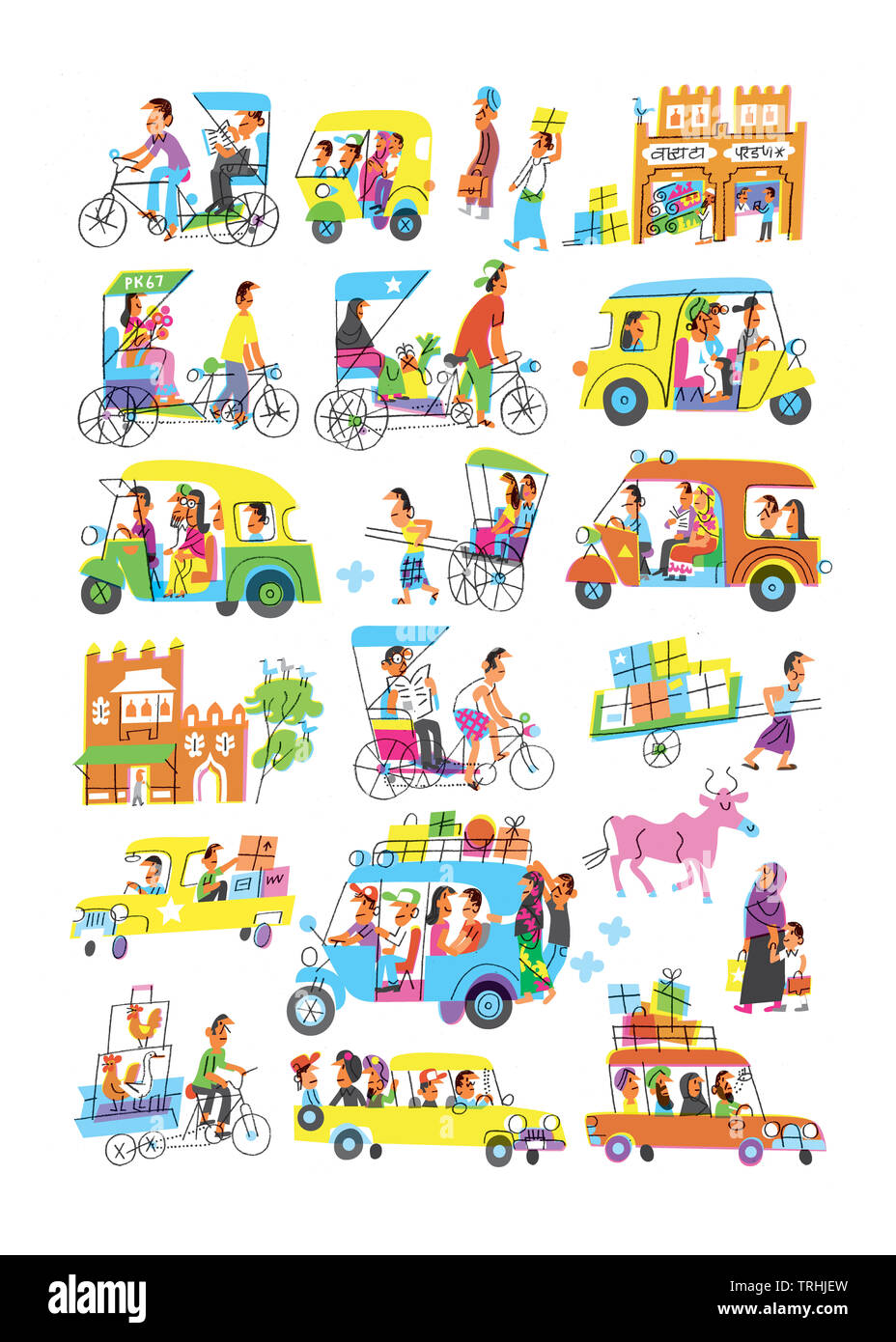 Various mode of transportation - Stock Image
