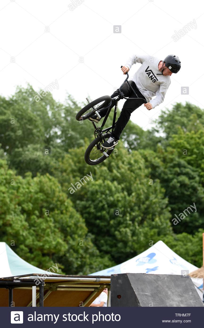 stunt bikes - Stock Image