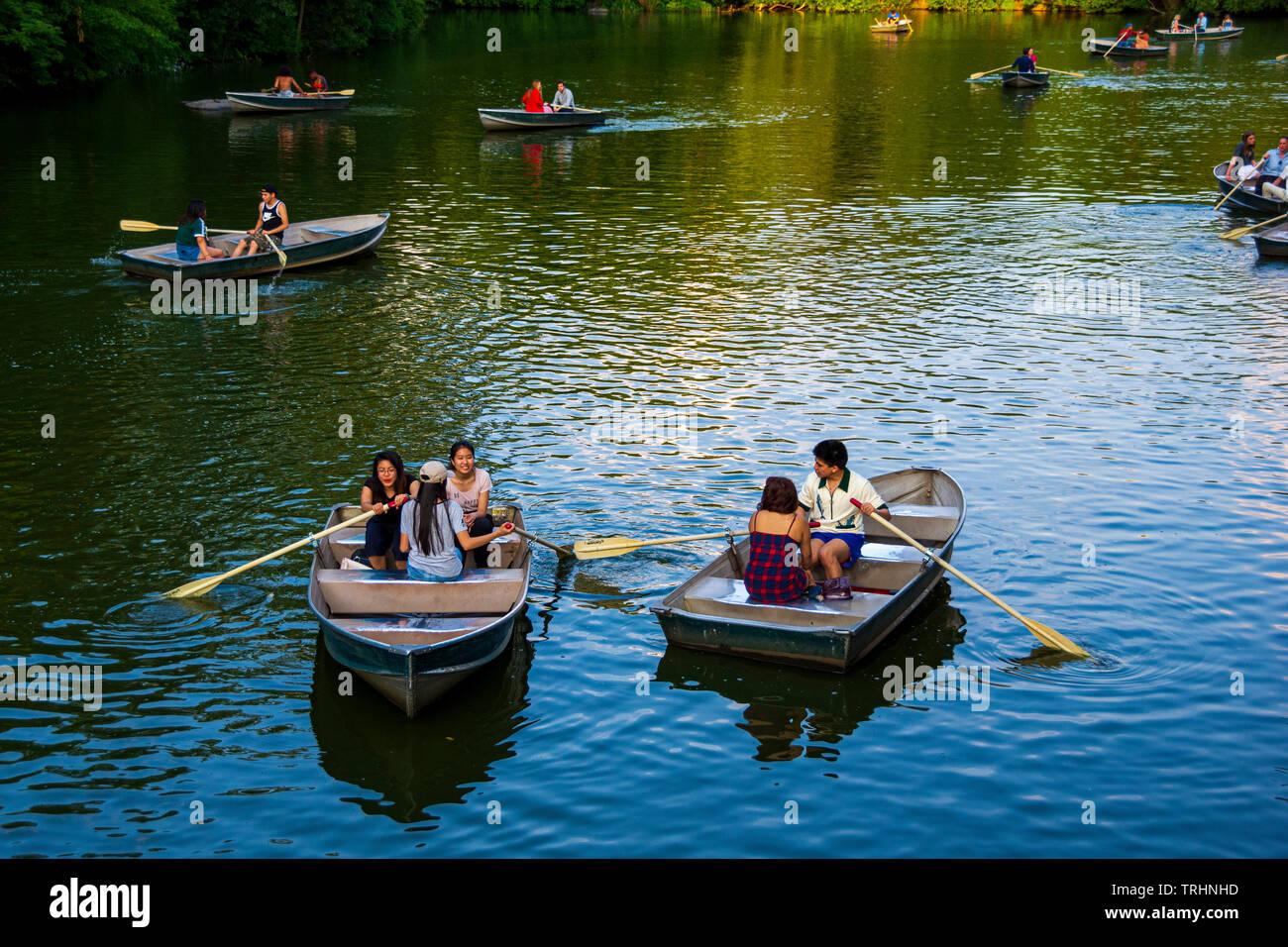 New York Central Park Boats Lake Stock Photos & New York