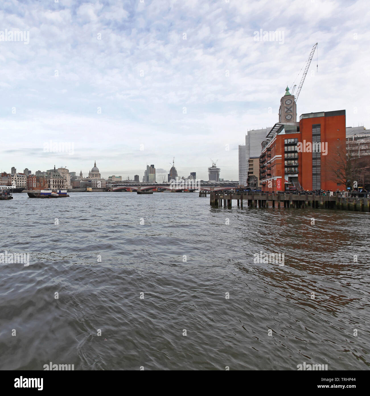 London, United Kingdom - January 26, 2013: Oxo Tower Building at River Thames Southwark in London, UK. - Stock Image