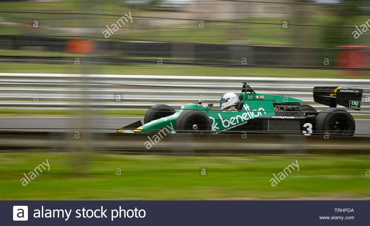 Classic Formula One Car at the FIA Masters Historic Brands Hatch - Stock Image
