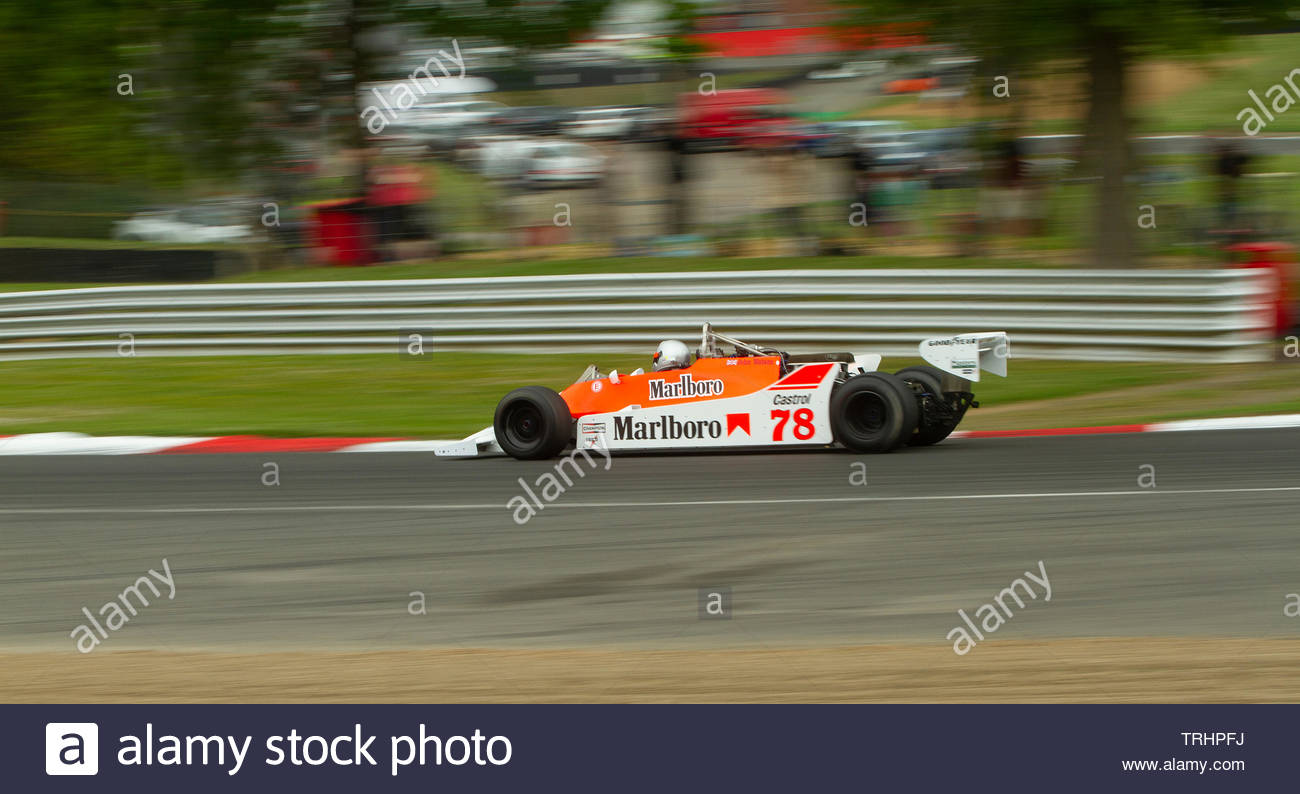 Mclaren M29 Formula One Car at the FIA Masters Historic Brands Hatch - Stock Image