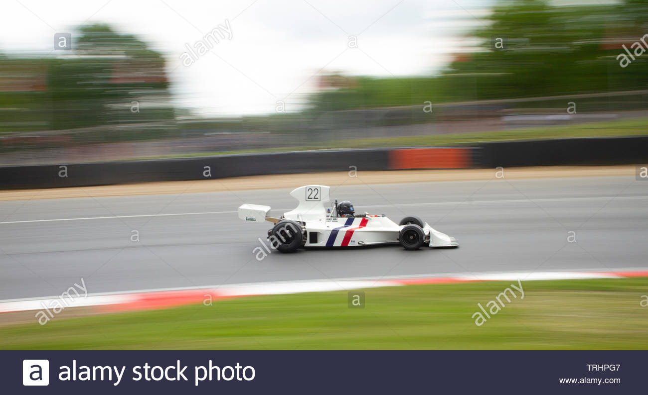 Hesketh 308 Formula One Car at the FIA Masters Historic Brands Hatch - Stock Image