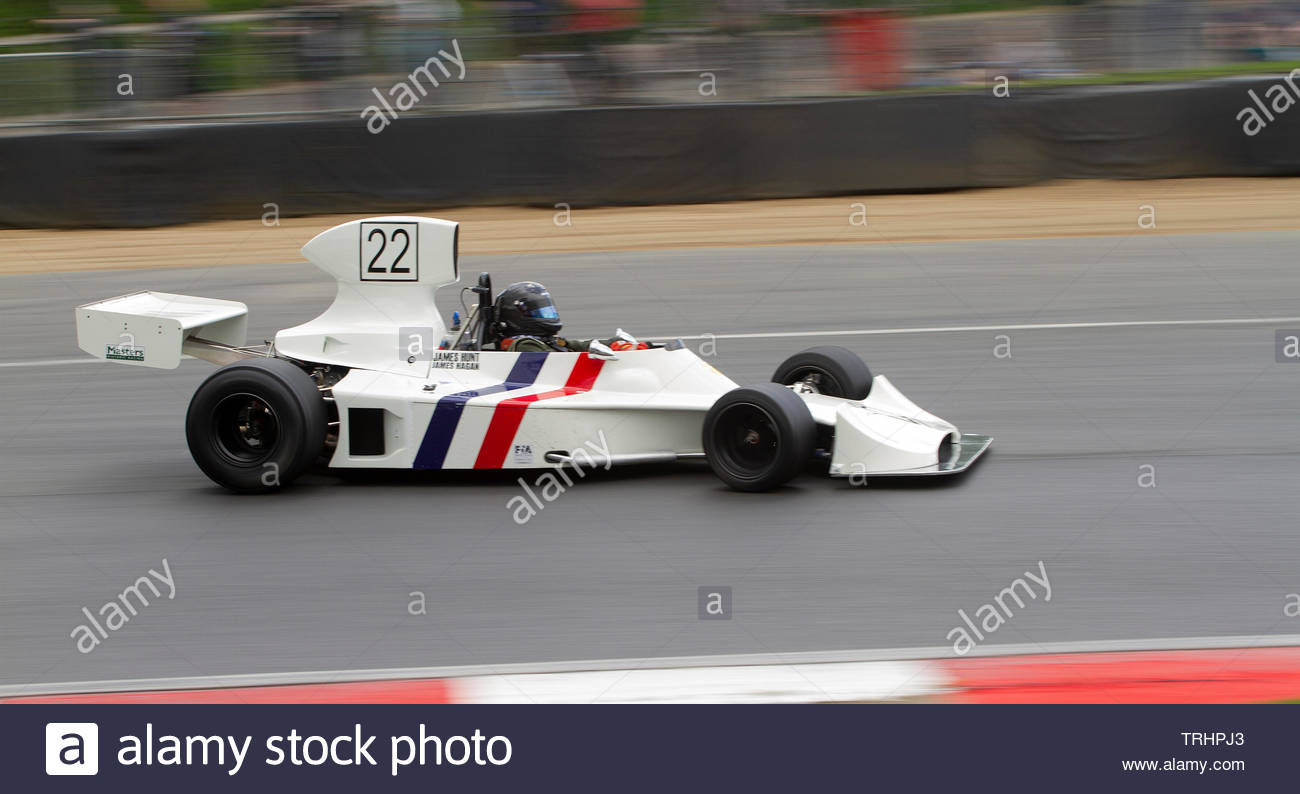Hesketh 308, Formula One Car,  FIA Masters Historic, Brands Hatch, - Stock Image