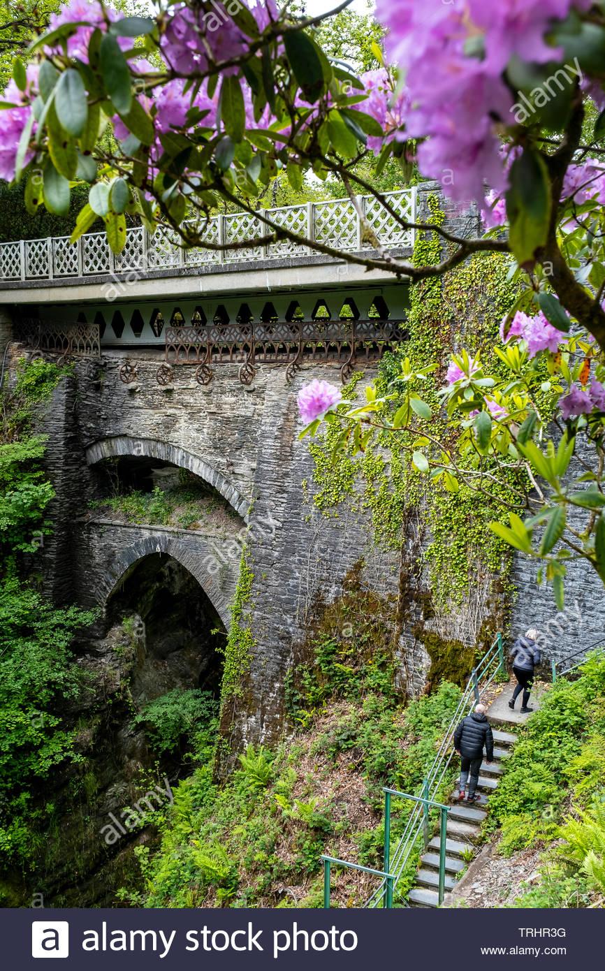 Devil´s Bridge, Pontarfynach, Wales - Stock Image