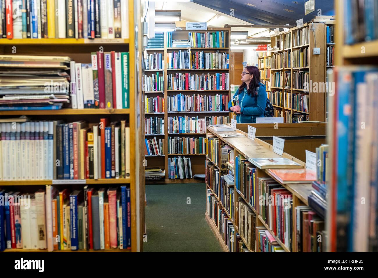 Hay Cinema bookshop, Hay on Wye, Wales - Stock Image