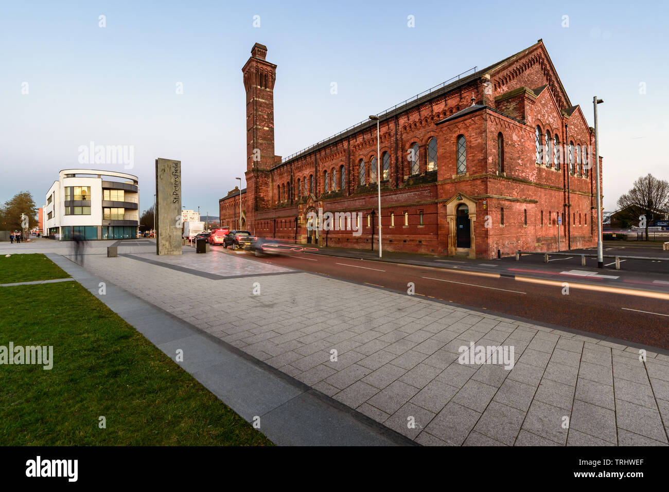 Victoria Baths  is an impressive example of municipal social architecture and  deserving of the English Heritage Listed Grade II* status. Ashton Under - Stock Image