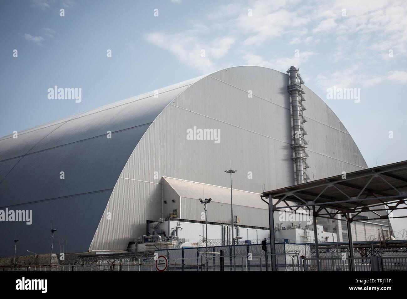 Chernobyl, Ukraine  10th April, 2019  The New Safe