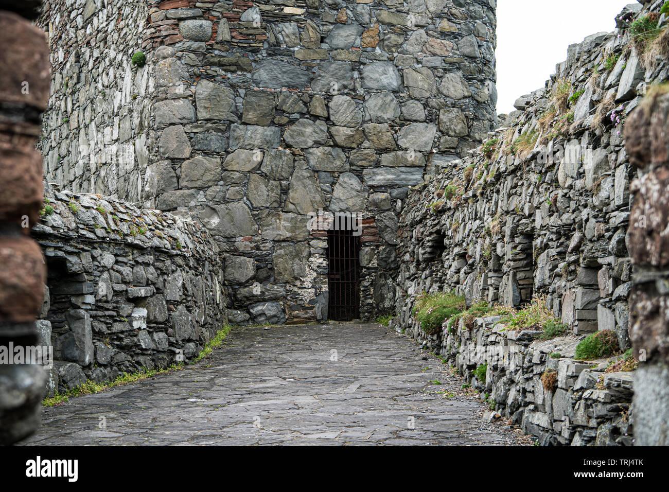 Cathedral, Peel Castle, Isle of Man, UK - Stock Image