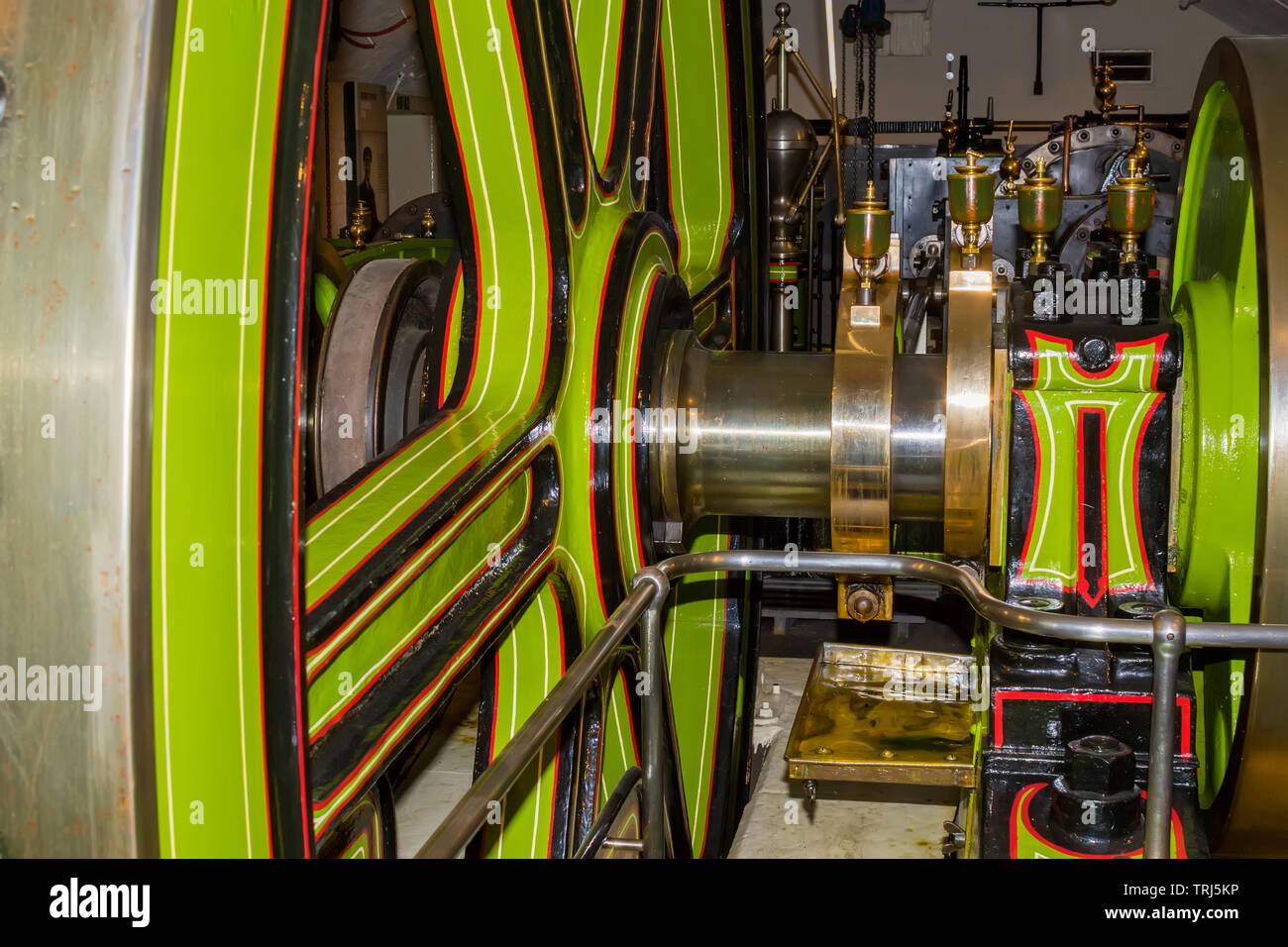 The machine behind the Tower Bridge, this machine moves the bridge up and down. - Stock Image