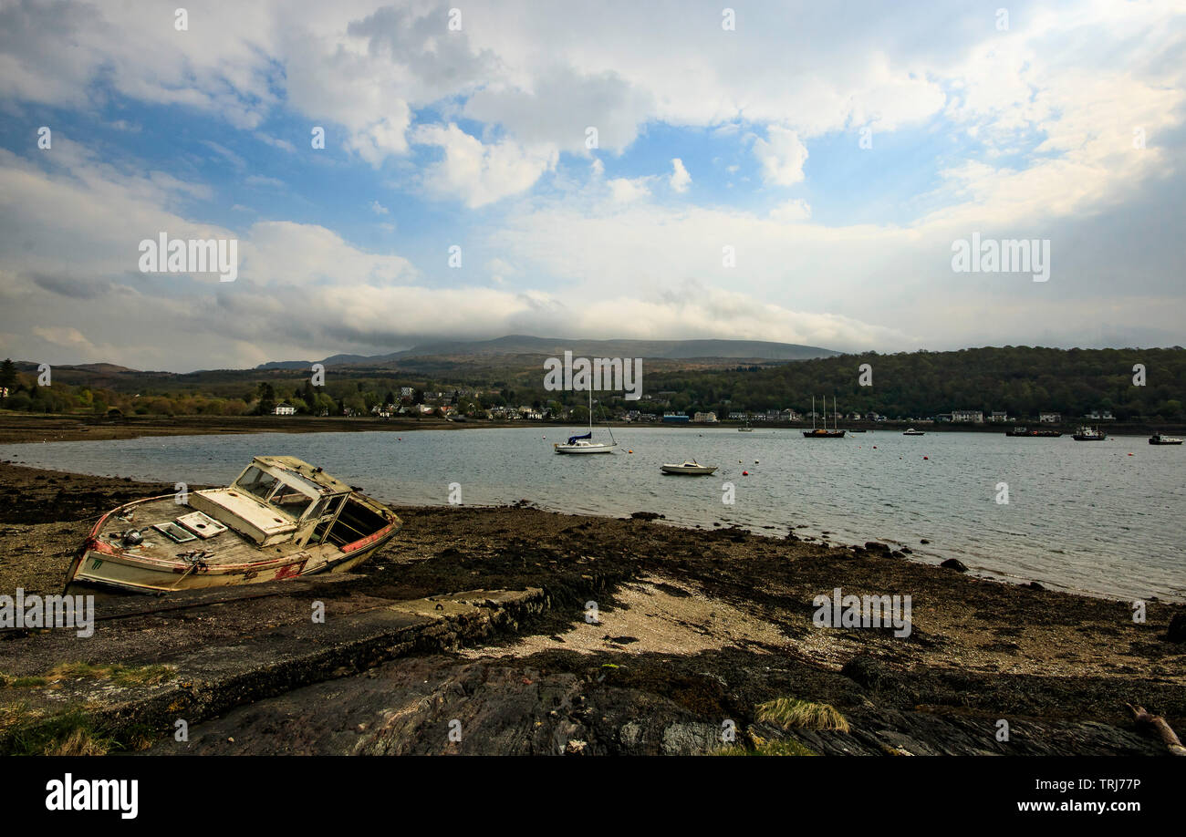 The view over the Gareloch to Garelochhead - Stock Image