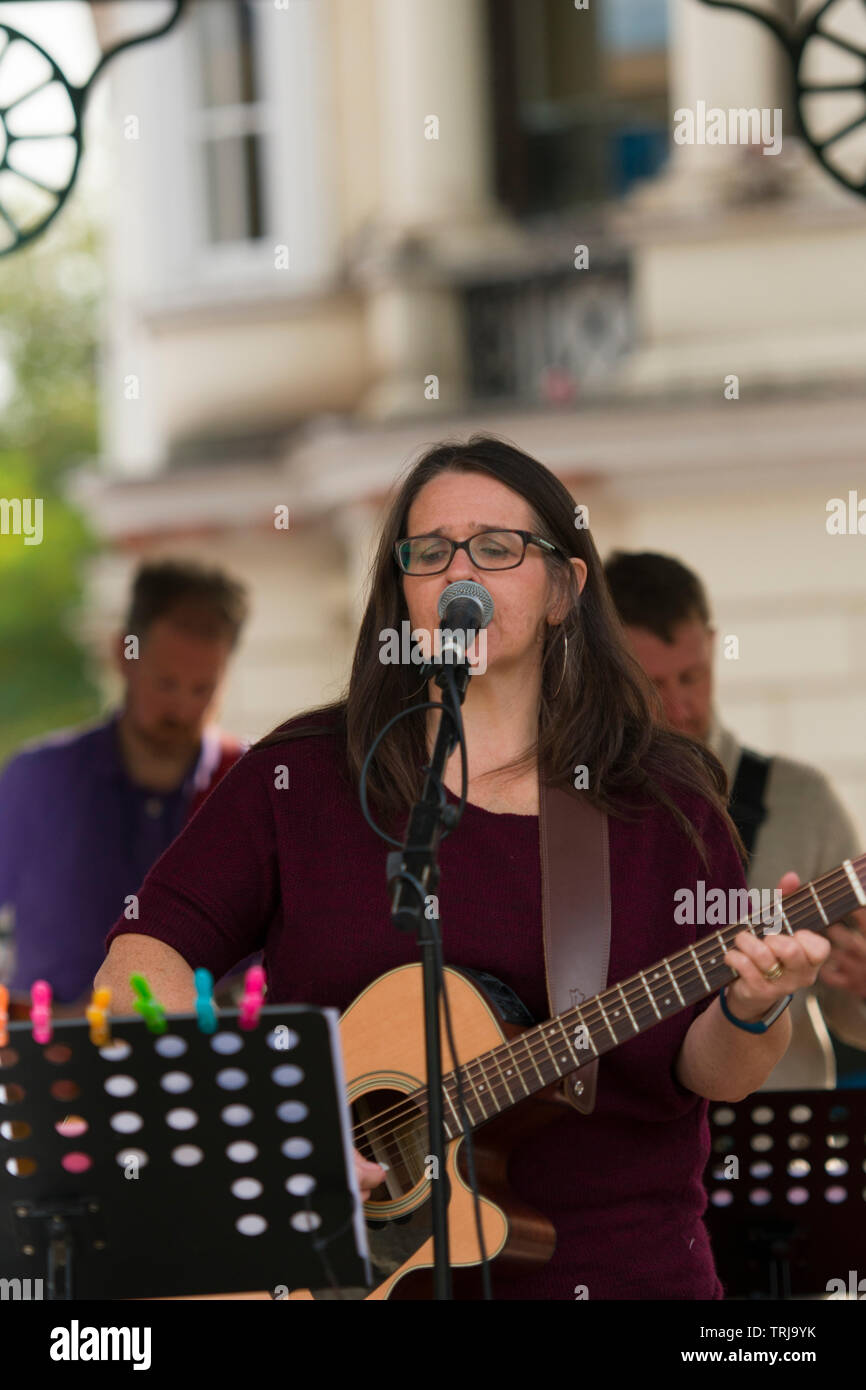 Day of prayer and worship at the bandstand in Ashford - Stock Image