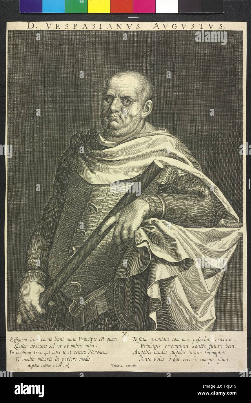 Vespasian, Roman emperor, Additional-Rights-Clearance-Info-Not-Available - Stock Image