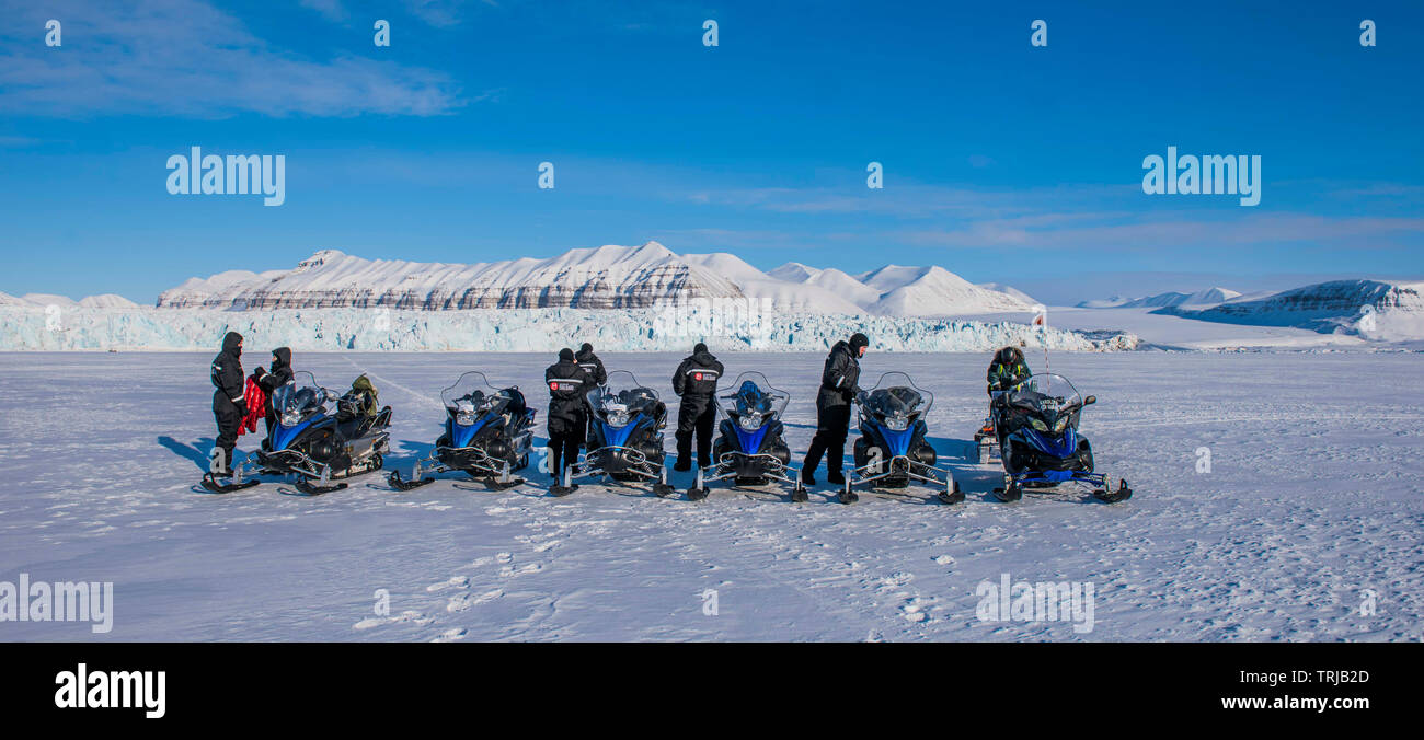 Landscape of Arctic Island of Svalbard, Norway   Picture Copyright Chris Watt Tel -  07887 554 193 info@chriswatt.com www.chriswatt.com - Stock Image