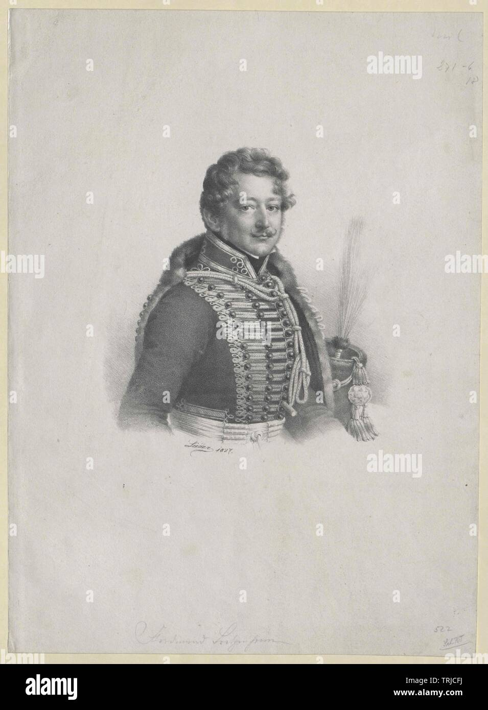Bretzenheim-Regecz, Ferdinand count, Imperial and Royal secret counsel since 1824, member of the Pressburg Diet, Additional-Rights-Clearance-Info-Not-Available - Stock Image