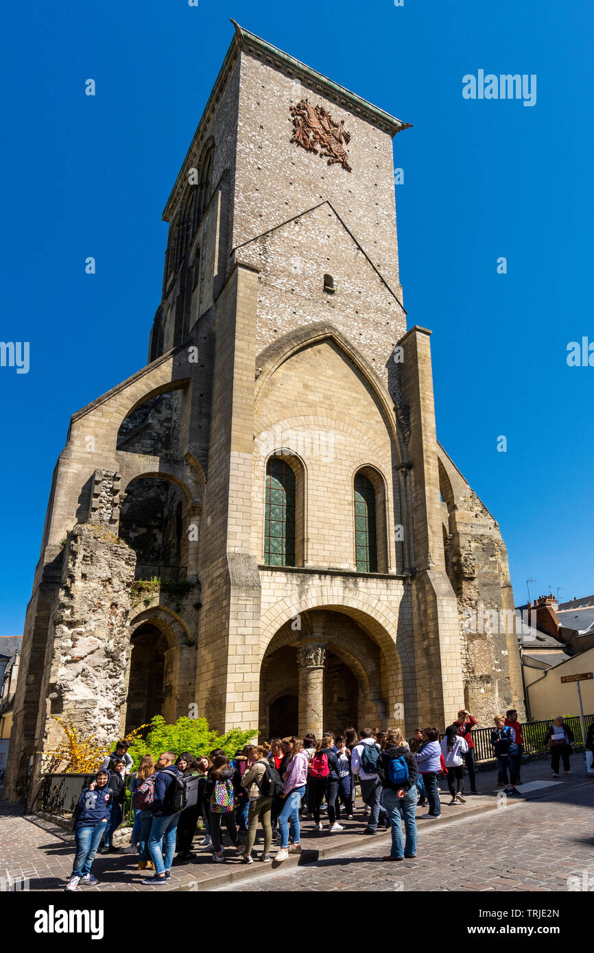 Charlemagne Tower of Tours city , Indre et Loire, Centre Val Loire, France - Stock Image
