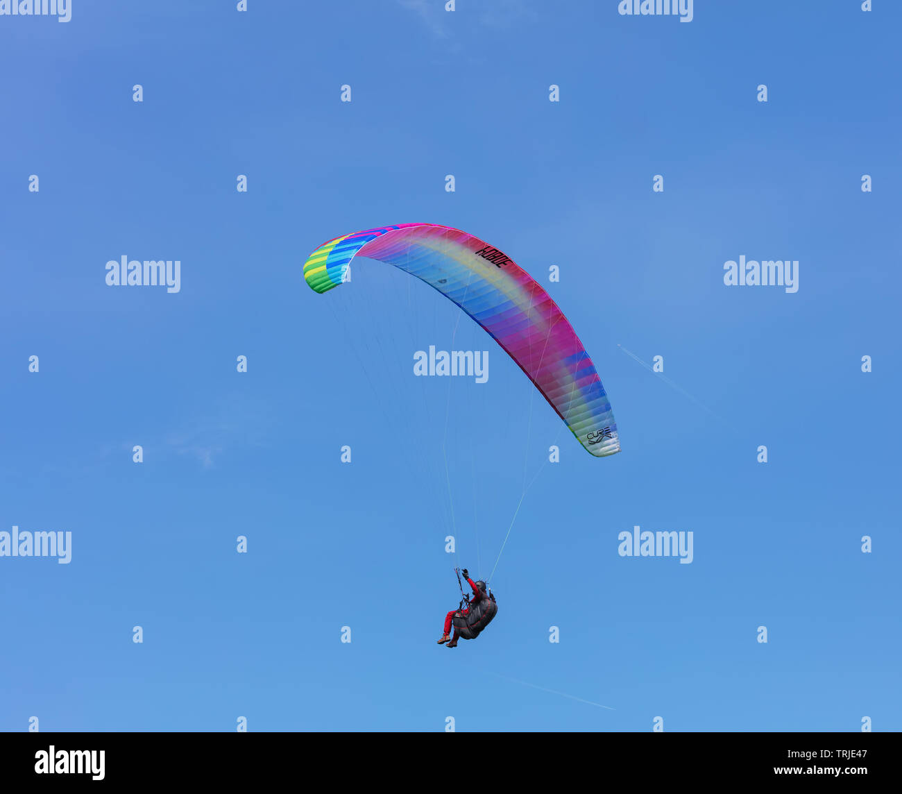 Paragliding Switzerland Stock Photos & Paragliding Switzerland Stock