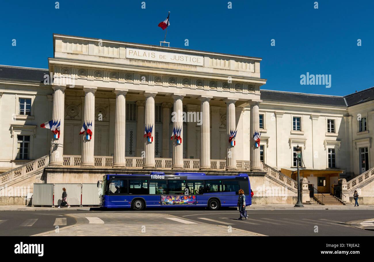 Courthouse of Tours city, Indre et Loire, Centre Val de loire, France - Stock Image