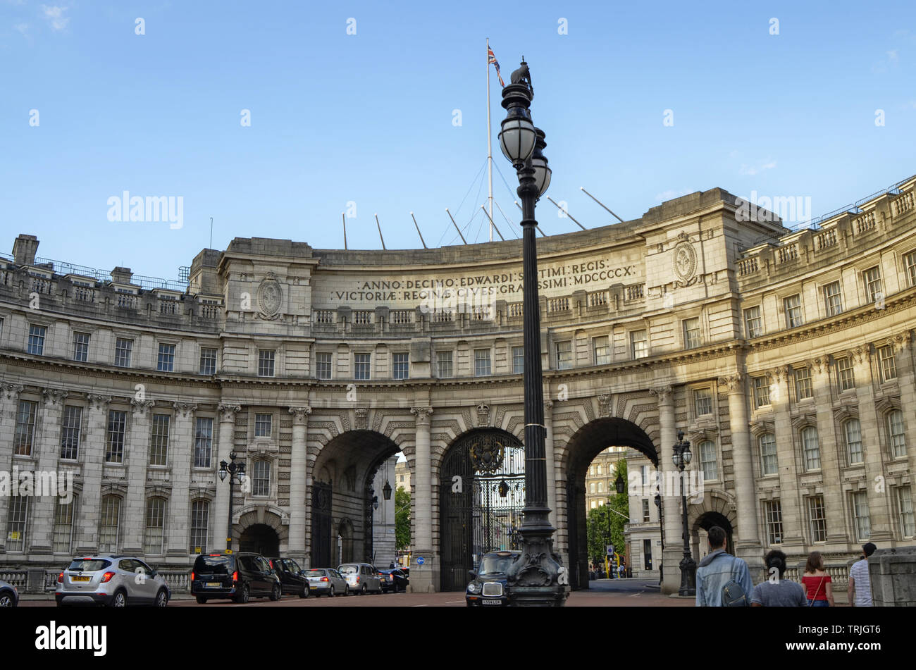 London, United Kingdom, June 2018  Admiralty Arch, the portal at the