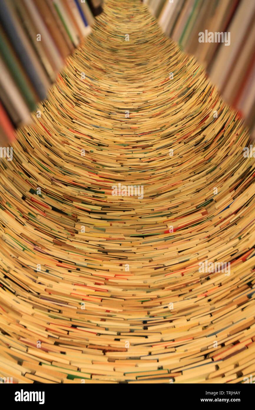 Livres. Bibliothèque Municipale. Prague. Czech Republic. - Stock Image