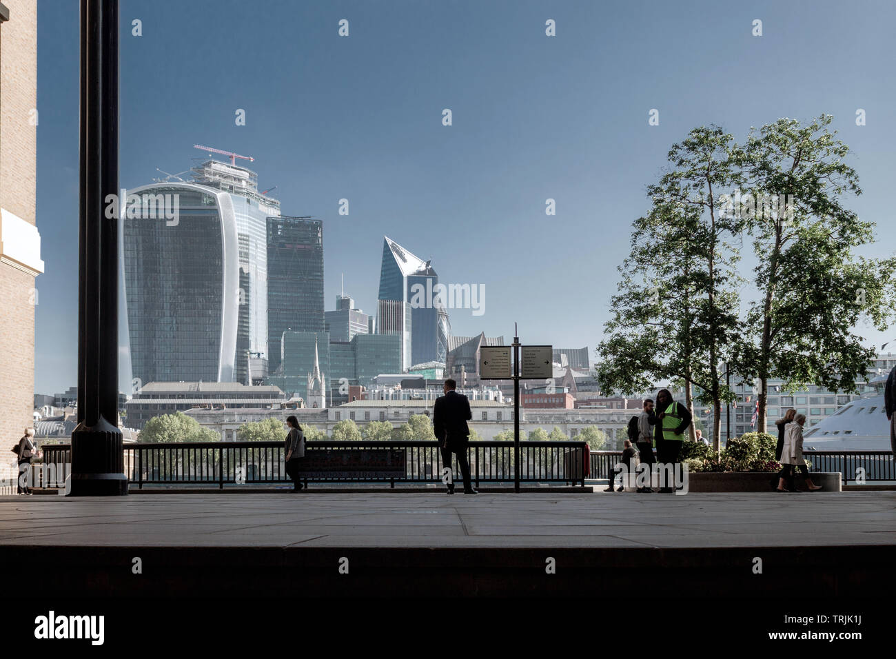City of London Skyline, England, UK - Stock Image