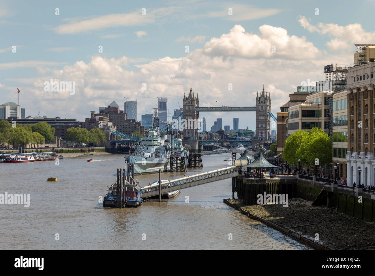 Tower Bridge, London, Daytime - Stock Image