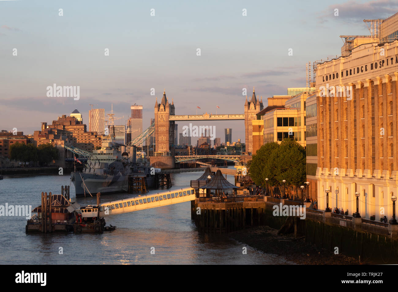 Tower Bridge, London, in the evening - Stock Image