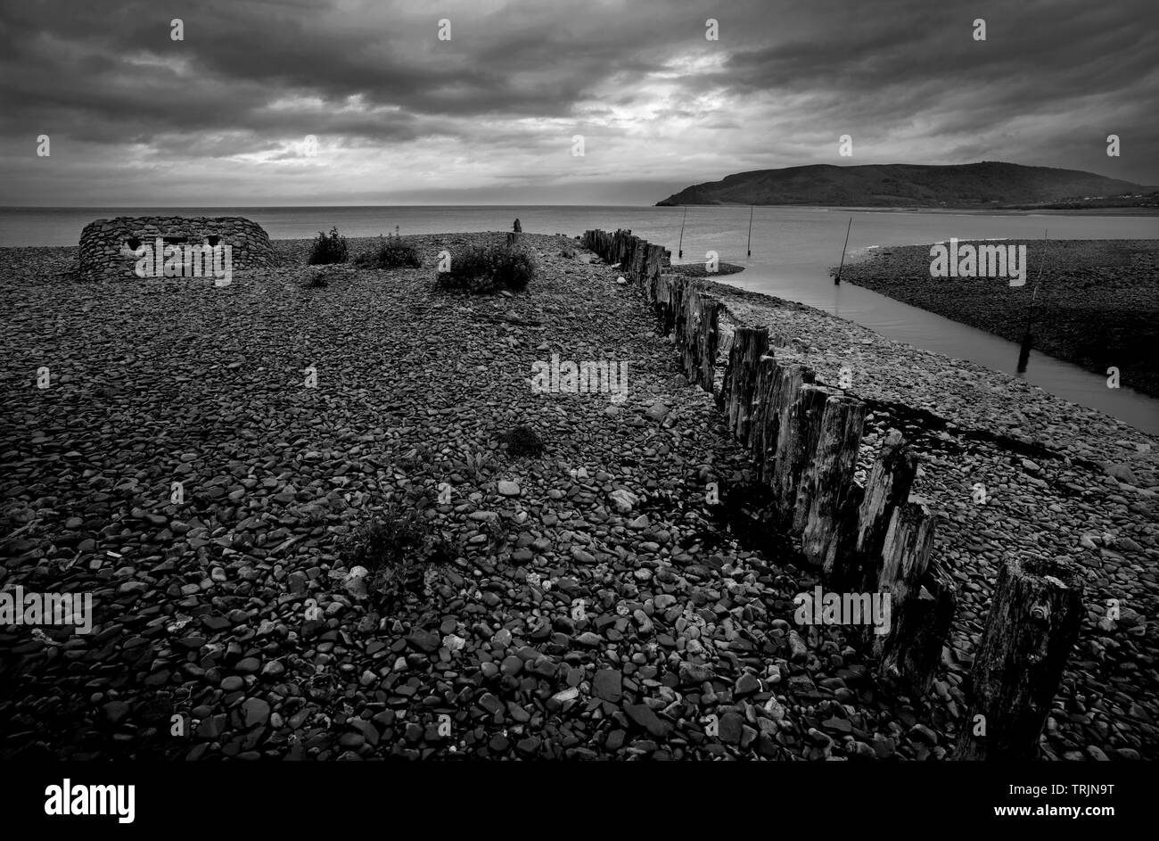 Porlock Weir Exmoor Somerset England UK June 2019 Porlock Weir, about 1.5 miles west of the inland village of Porlock, Somerset, England, is a small s Stock Photo