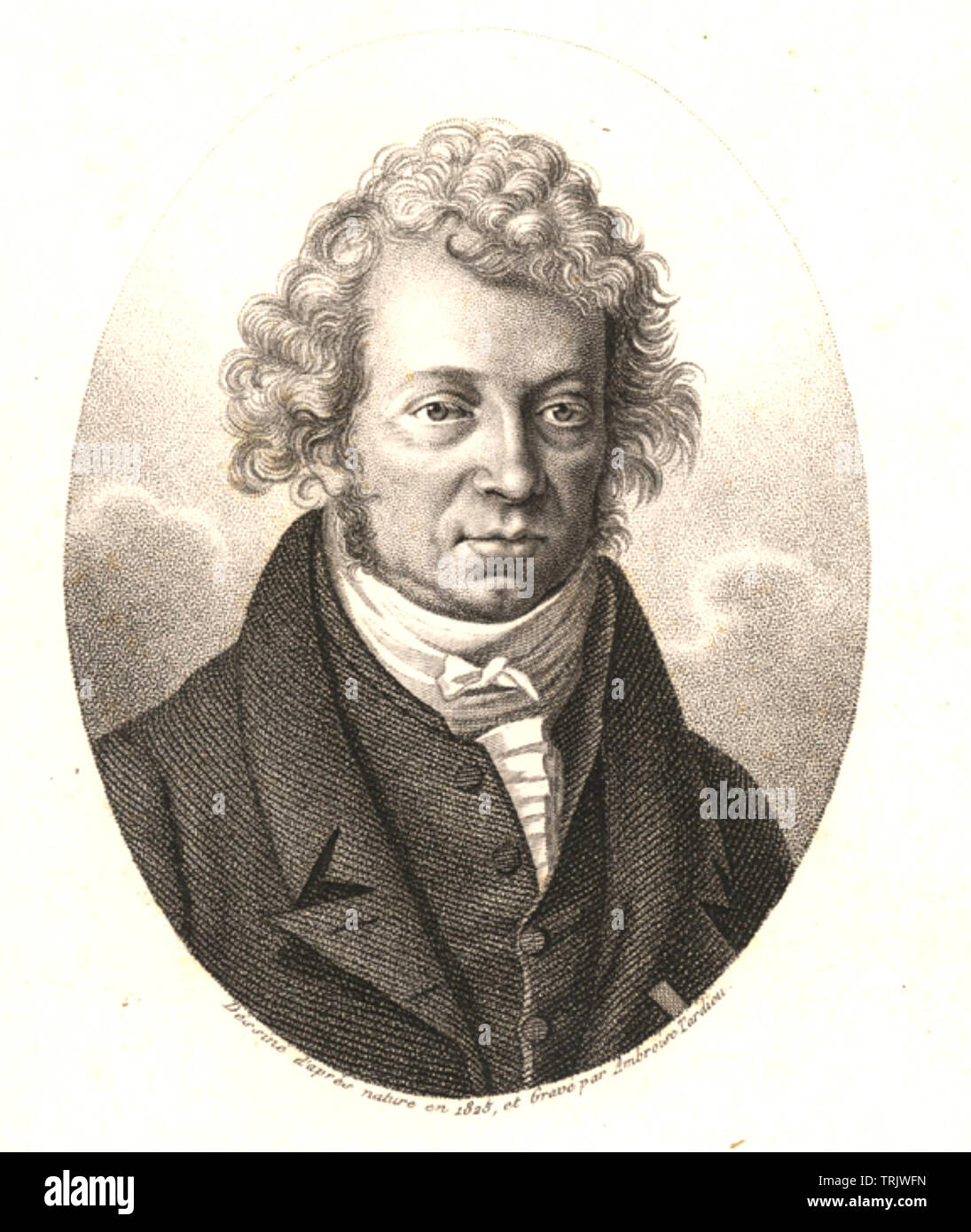 ANDRÉ-MARIE AMPĖRE (1775-1836) French physicist and mathematician - Stock Image