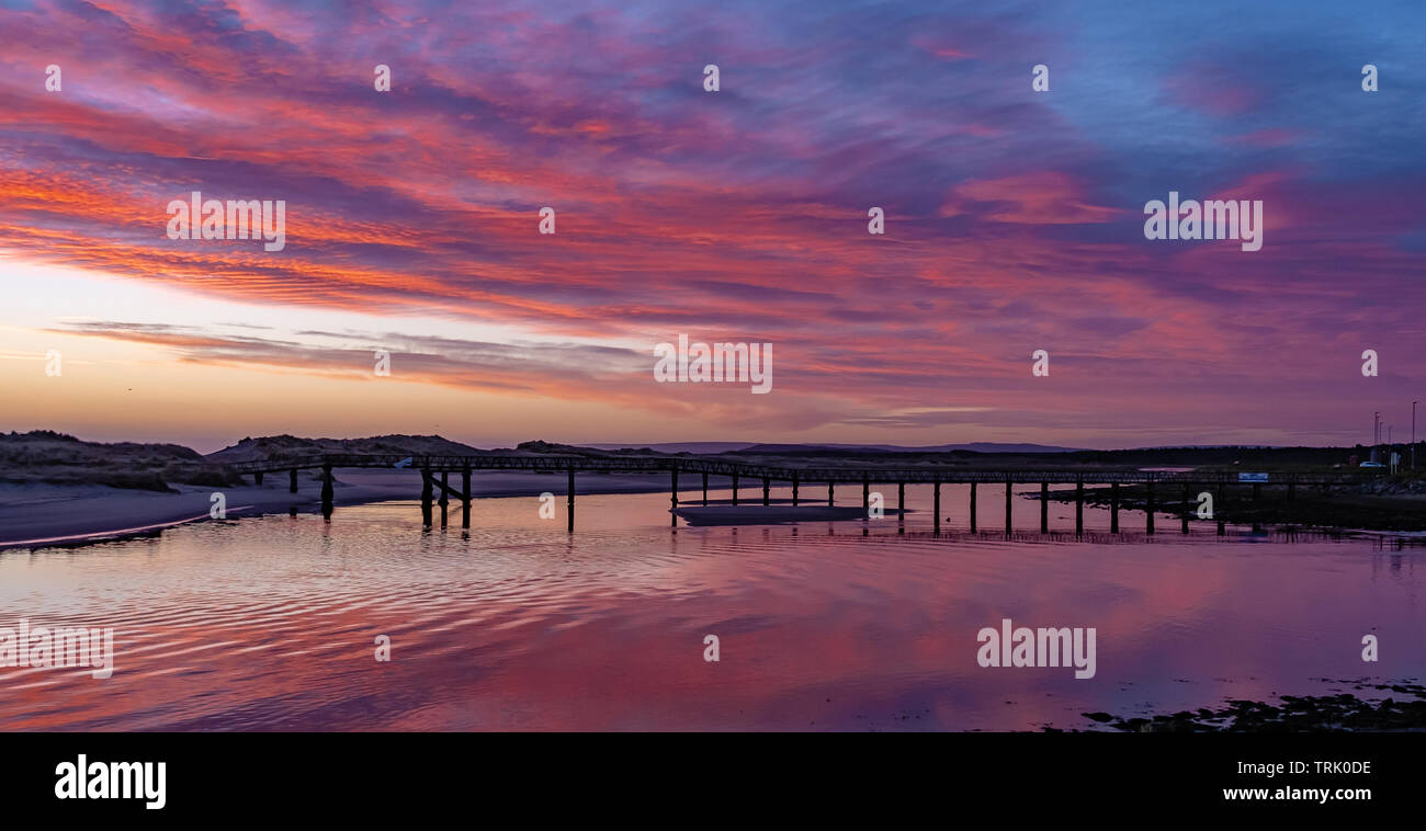 Lossiemouth Sunrise Bridge - Stock Image