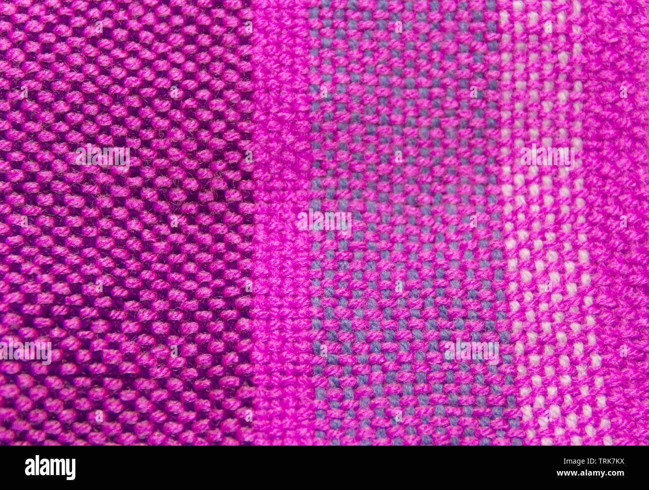 colorful background texture of weaving on loom - Stock Image
