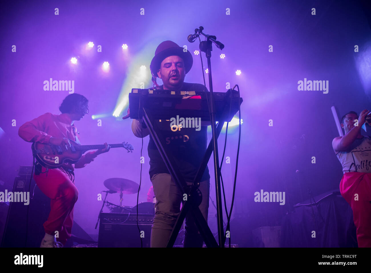 Mexican institute of Sound performance in sala caracol in Madrid, Spain - Stock Image