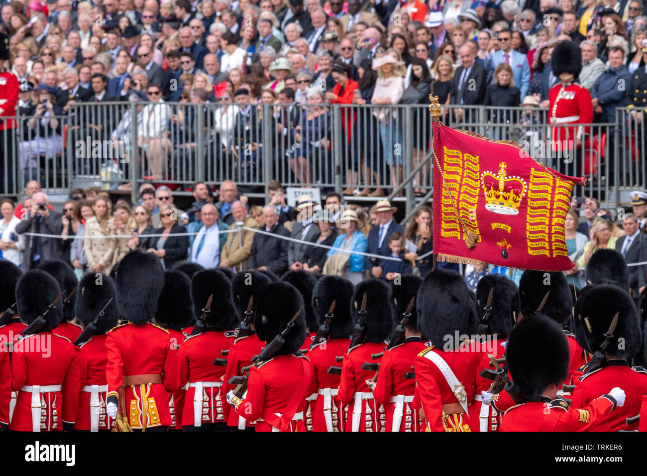 Royal Family Watching Trooping Colour Stock Photos & Royal