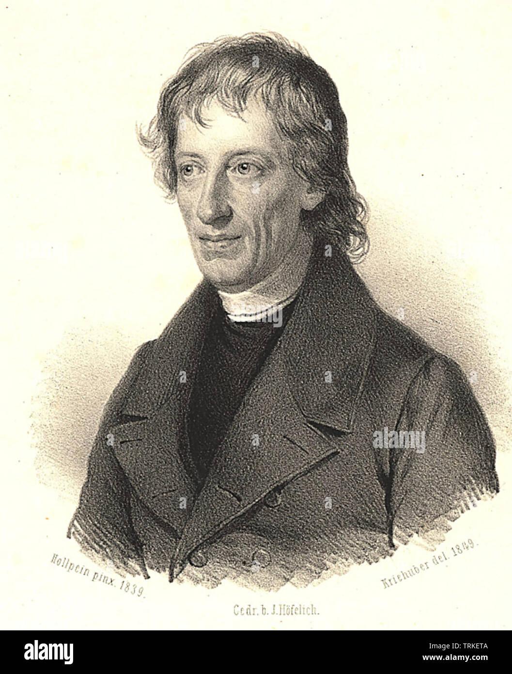 BERNARD BOLZANO (1781-1848) Bohemian mathematician and philosopher - Stock Image