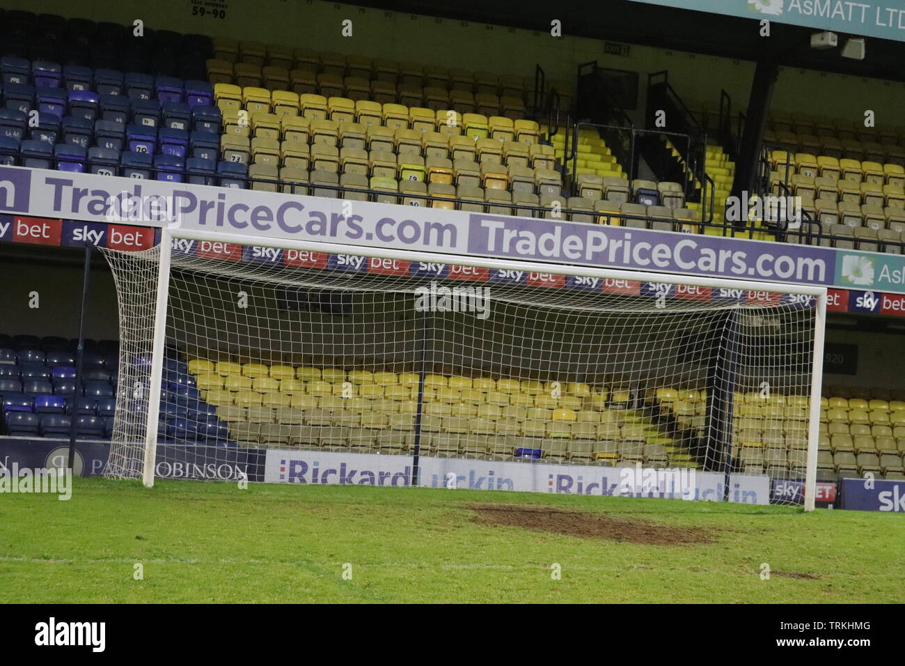 Essex, England: The south stand at Southend United's Roots Hall stadium - Stock Image